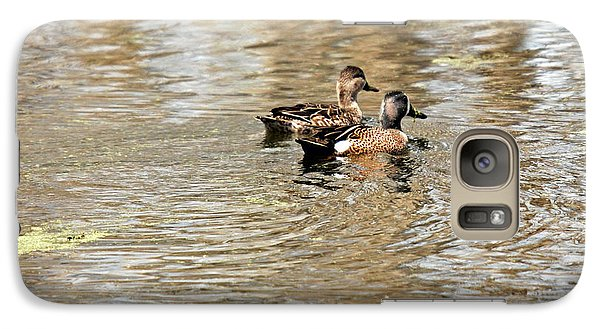 Galaxy Case featuring the photograph Ducks Together by Teresa Blanton