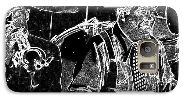 Galaxy Case featuring the mixed media Duke Ellington by Charles Shoup