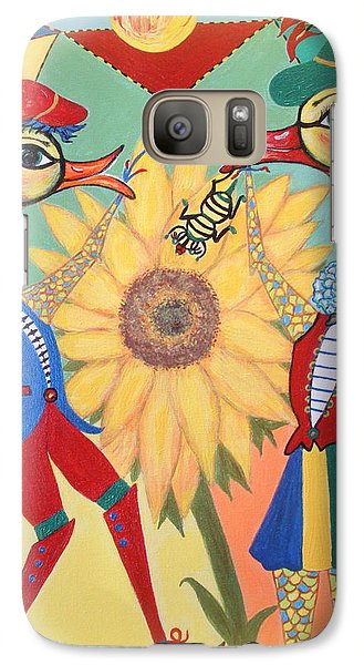 Galaxy Case featuring the painting Duke Have A Honey-bee by Marie Schwarzer