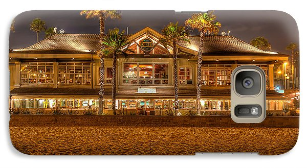 Galaxy Case featuring the photograph Duke's Restaurant Huntington Beach - Back by Jim Carrell