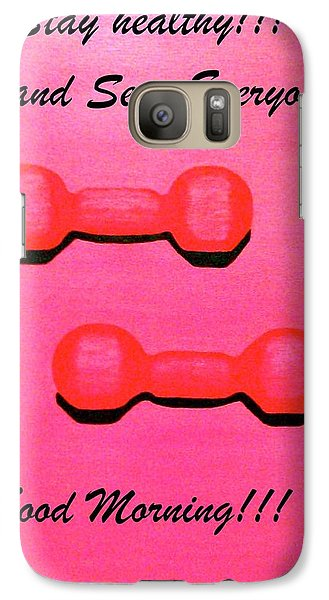 Galaxy Case featuring the painting Dumb-bells by Lorna Maza