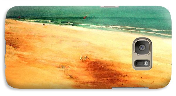 Galaxy S7 Case featuring the painting Dune Shadows by Winsome Gunning