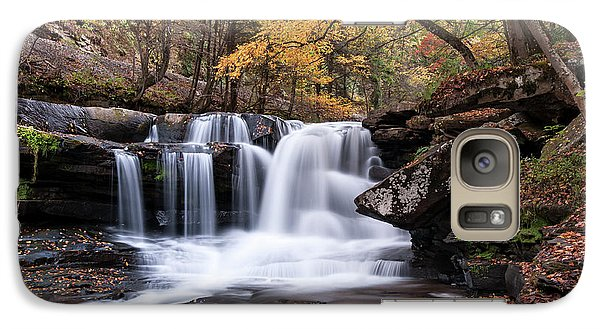 Galaxy Case featuring the photograph Dunloup Falls - D009961 by Daniel Dempster