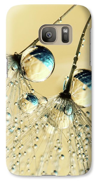 Galaxy Case featuring the photograph Duo Shower Dandy Drops by Sharon Johnstone
