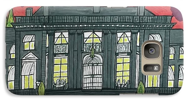 Galaxy Case featuring the painting Dupont Family Mansion. by Jonathon Hansen