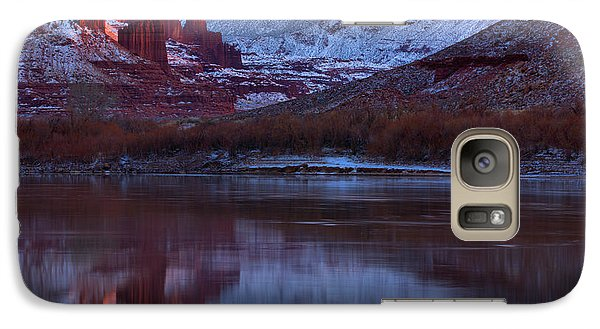 Galaxy Case featuring the photograph Dusk At Fisher Towers by Adam Jewell