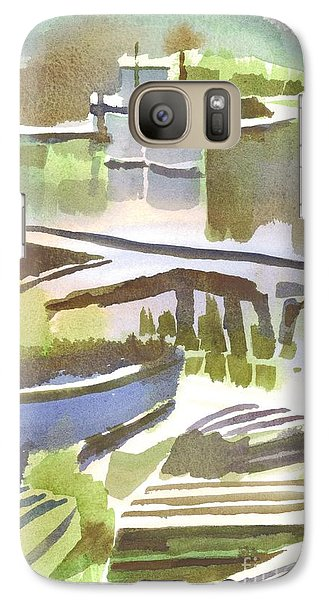 Galaxy Case featuring the painting Dusk At The Boat Dock by Kip DeVore