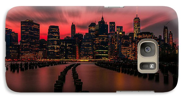 Galaxy Case featuring the photograph Dusk Manhattan by RC Pics