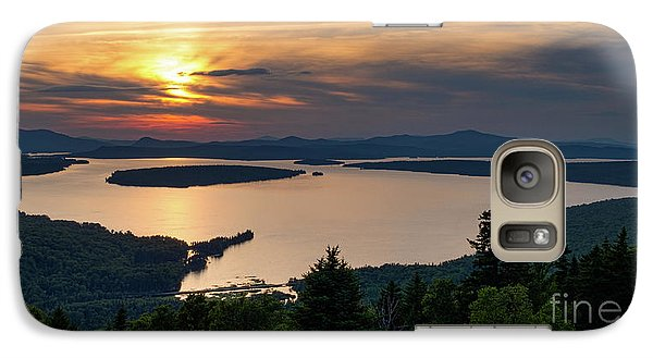 Galaxy Case featuring the photograph Dusk, Mooselookmeguntic Lake, Rangeley, Maine -63362-63364 by John Bald