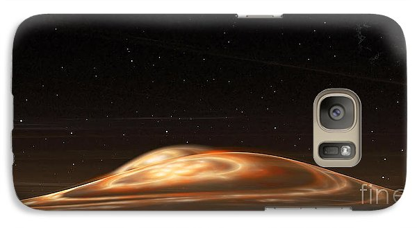 Galaxy Case featuring the digital art Dust Storm On The Red Planet by Richard Ortolano