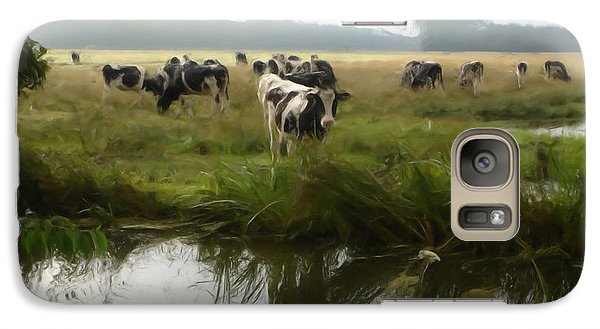 Galaxy Case featuring the painting Dutch Cows by Jan Daniels