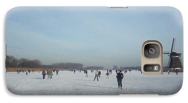 Galaxy Case featuring the digital art Dutch Winter Landscape by Jan Daniels