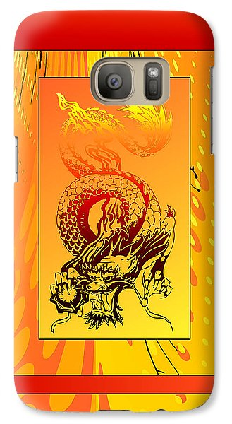 Galaxy Case featuring the photograph Duvet Dragon Fire by Robert Kernodle