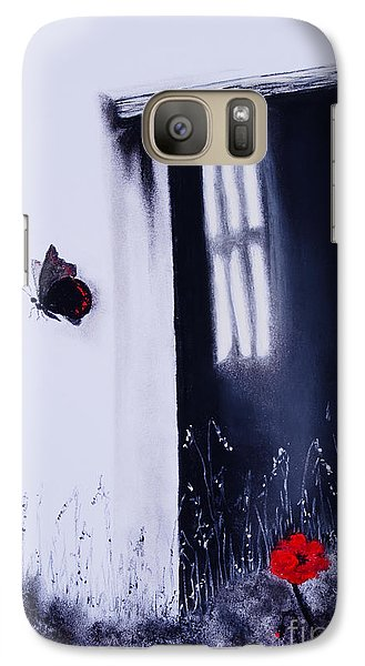 Galaxy Case featuring the painting Dying Is Easy by Stanza Widen