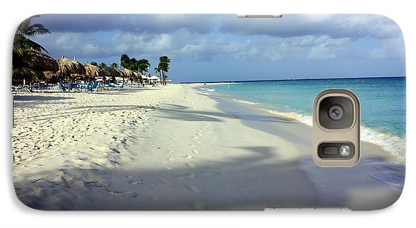 Galaxy Case featuring the photograph Eagle Beach Aruba by Suzanne Stout