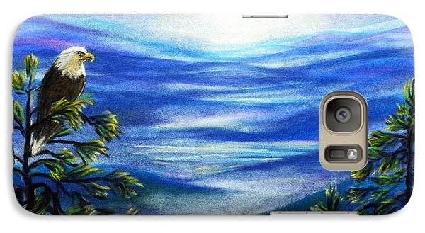 Galaxy Case featuring the pastel Eagle Blue Ridge Mountain Sunrise by Patricia L Davidson
