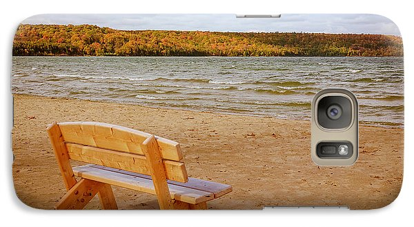 Galaxy Case featuring the photograph Eagle Harbor Summer Is Over by Heidi Hermes