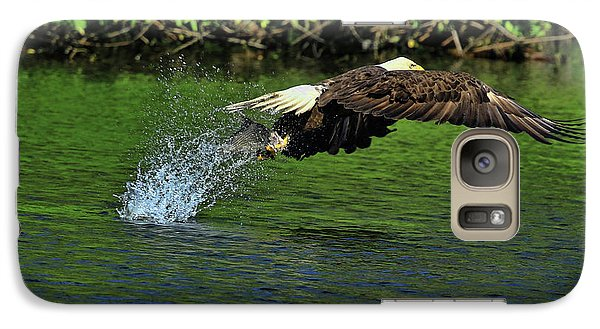 Galaxy Case featuring the photograph Eagle Series Fish Catch by Deborah Benoit