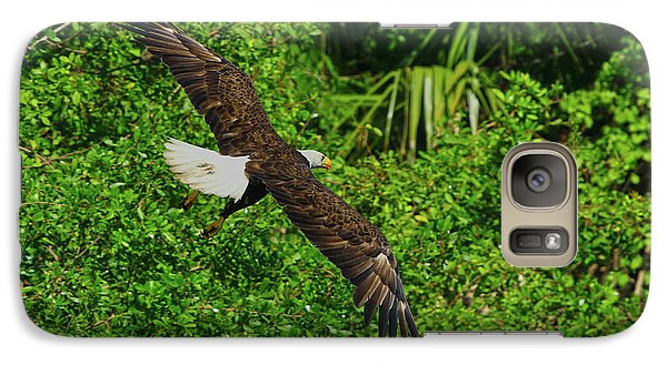 Galaxy Case featuring the photograph Eagle Series Flight by Deborah Benoit