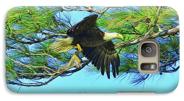 Galaxy Case featuring the painting Eagle Series Food by Deborah Benoit