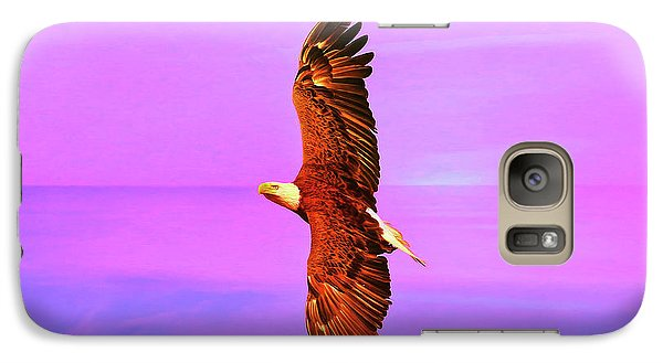 Galaxy Case featuring the painting Eagle Series Painterly by Deborah Benoit
