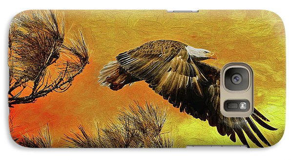Galaxy Case featuring the painting Eagle Series Strength by Deborah Benoit