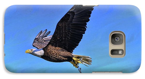 Galaxy Case featuring the photograph Eagle Series Success by Deborah Benoit