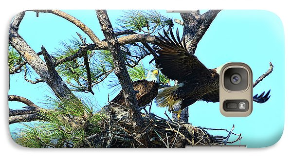 Galaxy Case featuring the photograph Eagle Series The Nest by Deborah Benoit