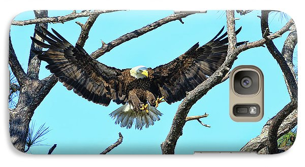 Galaxy Case featuring the photograph Eagle Series Wings by Deborah Benoit