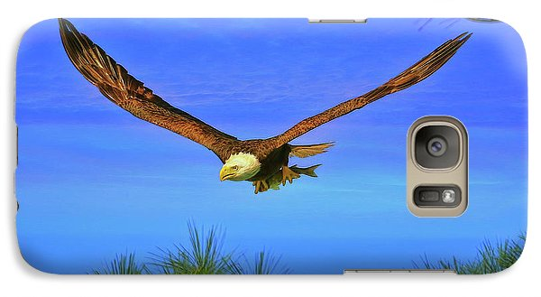 Galaxy Case featuring the photograph Eagle Series Through The Trees by Deborah Benoit