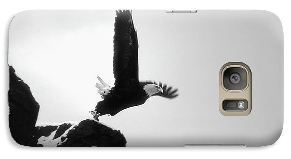 Galaxy Case featuring the photograph Eagle Takeoff At Adak, Alaska by John A Rodriguez