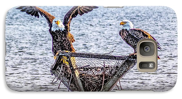 Galaxy Case featuring the photograph Eagles In Blackwater Refuge by Nick Zelinsky