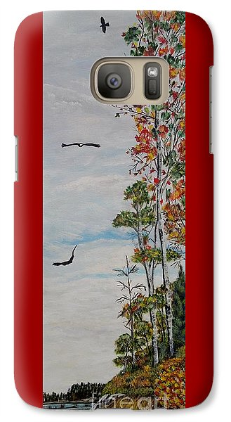 Galaxy Case featuring the painting Eagles Point by Marilyn  McNish