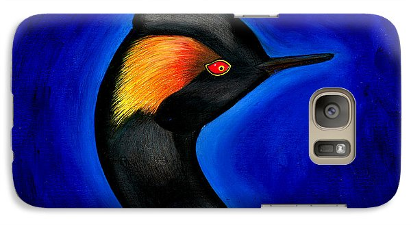Galaxy Case featuring the painting Eared Grebe Duck by Fanny Diaz