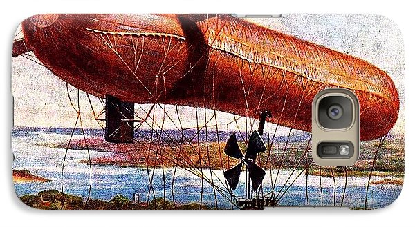 Galaxy Case featuring the painting Early 1900s Military Airship by Peter Gumaer Ogden