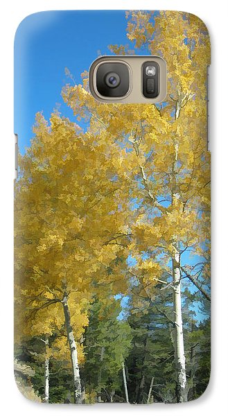 Galaxy Case featuring the photograph Early Autumn Aspens by Gary Baird