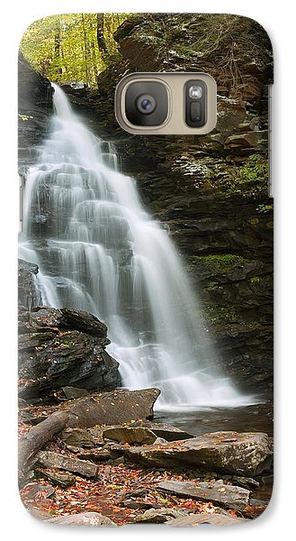 Galaxy Case featuring the photograph Early Autumn Morning Below Ozone Falls by Gene Walls