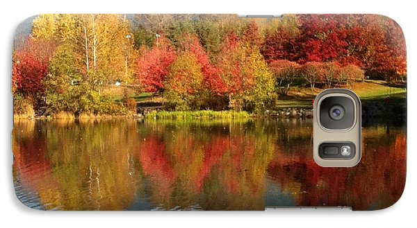 Galaxy Case featuring the painting Early Fall At Lafarge Lake by Rod Jellison