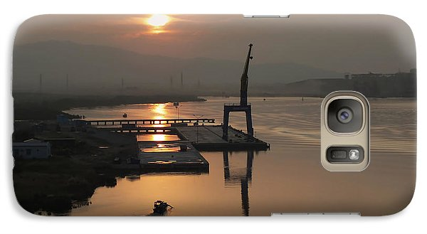 Galaxy Case featuring the photograph Early Hour On The River by Lucinda Walter