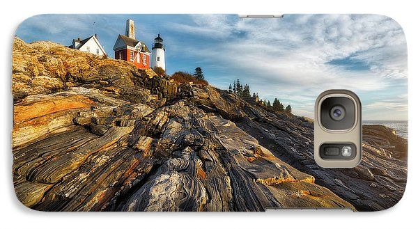 Galaxy Case featuring the photograph Early Morning At Pemaquid Point by Darren White