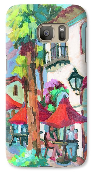 Galaxy Case featuring the painting Early Morning Coffee In Old Town La Quinta 2 by Diane McClary