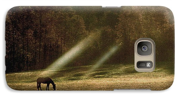 Galaxy Case featuring the photograph Early Morning Grazing by Diane Merkle