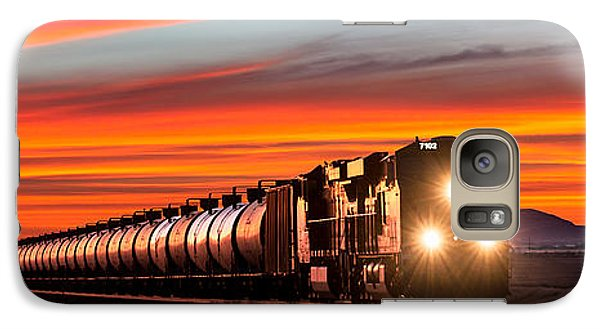 Train Galaxy S7 Case - Early Morning Haul by Todd Klassy