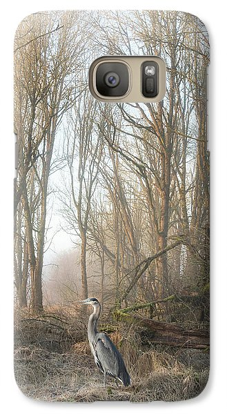 Galaxy Case featuring the photograph Early Morning In The Backwoods by Angie Vogel