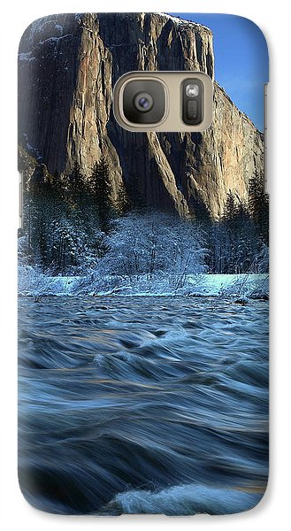 Galaxy Case featuring the photograph Early Morning Light On El Capitan During Winter At Yosemite National Park by Jetson Nguyen