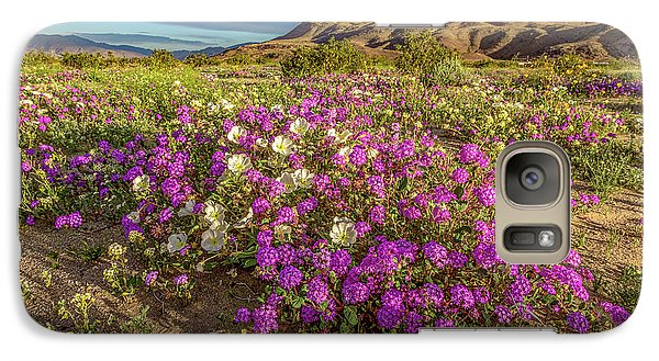 Galaxy Case featuring the photograph Early Morning Light Super Bloom by Peter Tellone