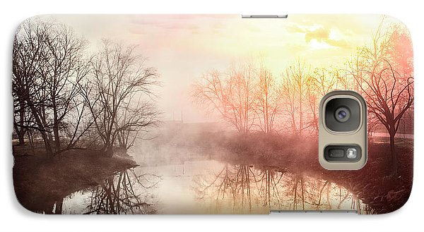 Galaxy Case featuring the photograph Early Morning On The River by Debra and Dave Vanderlaan