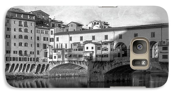 Galaxy Case featuring the photograph Early Morning Ponte Vecchio Florence Italy by Joan Carroll