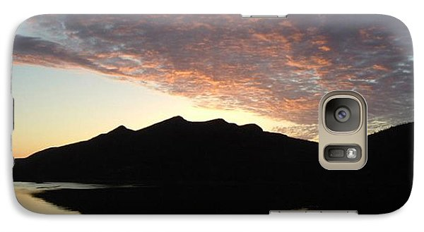Galaxy Case featuring the photograph Early Morning Red Sky by Barbara Griffin