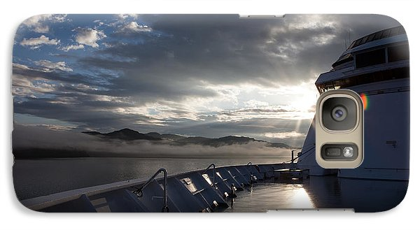 Galaxy Case featuring the photograph Early Morning Travel To Alaska by Yvette Van Teeffelen